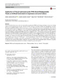 Application of poly-β-hydroxybutyrate (PHB)-based biodegradable